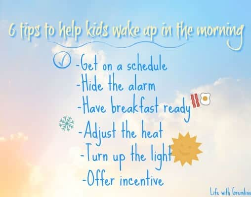 tips to help kids wake up