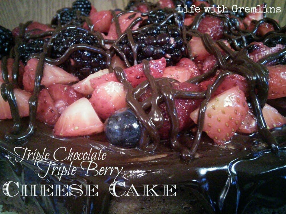 triple chocolate triple berry cheesecake recipe